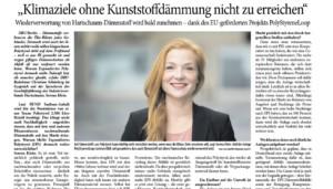 """""""Klimaziele ohne Kunststoffdämmung nicht zu erreichen"""""""