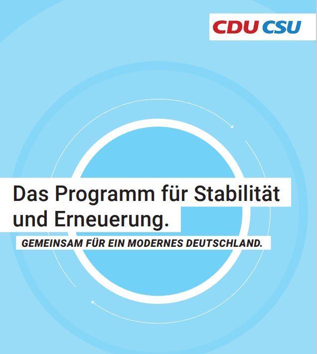 Was bedeutet das Wahlprogramm von CDU/CSU für die Branche?